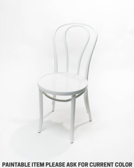 Front view of Paintable Cafe Chair