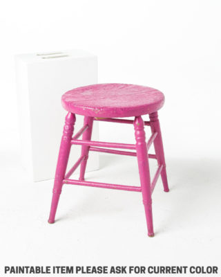 Front view of Paintable Polly Low Stool