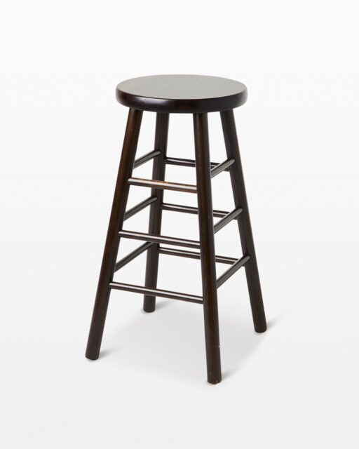 Front view of Warren Dark Brown Stool
