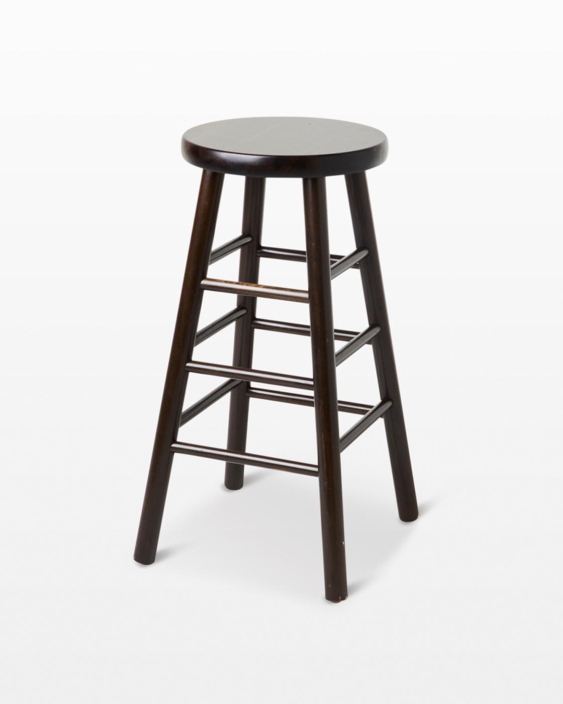 Sensational St118 Warren Dark Brown Stool Prop Rental Acme Brooklyn Ncnpc Chair Design For Home Ncnpcorg