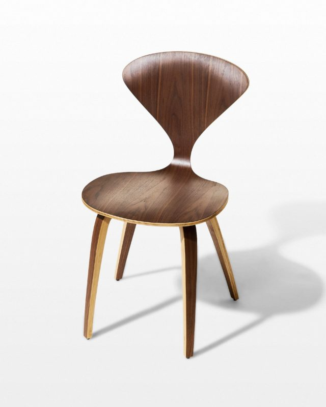 Front view of Edwin Bent Wood Chair