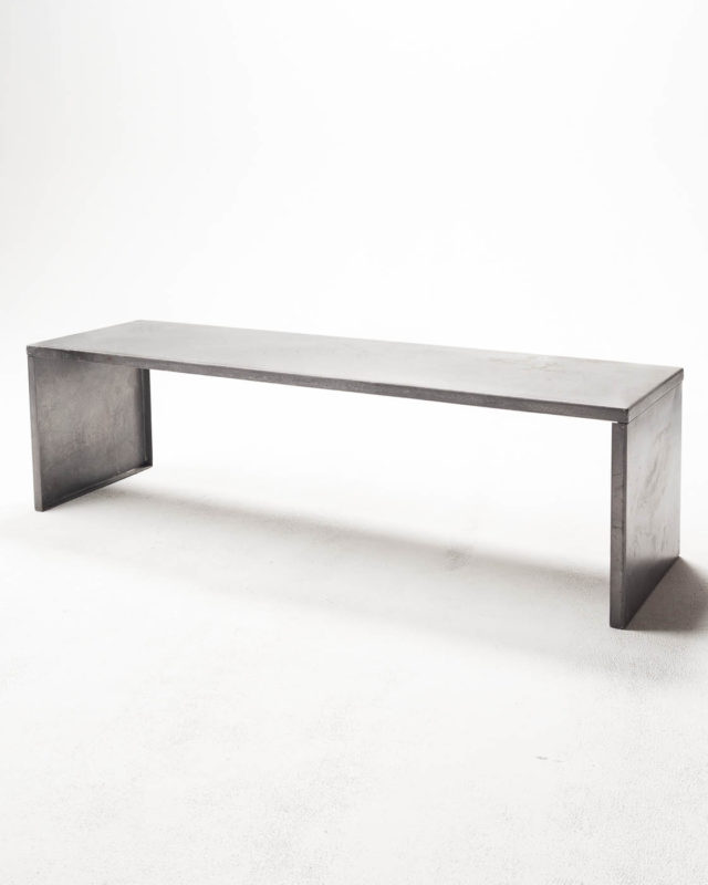 Front view of Aluminum Bench Table