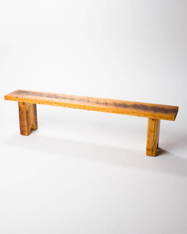 Front view of Edge Slab Bench