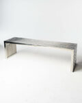 Front view thumbnail of Silver Stripe Bench Table