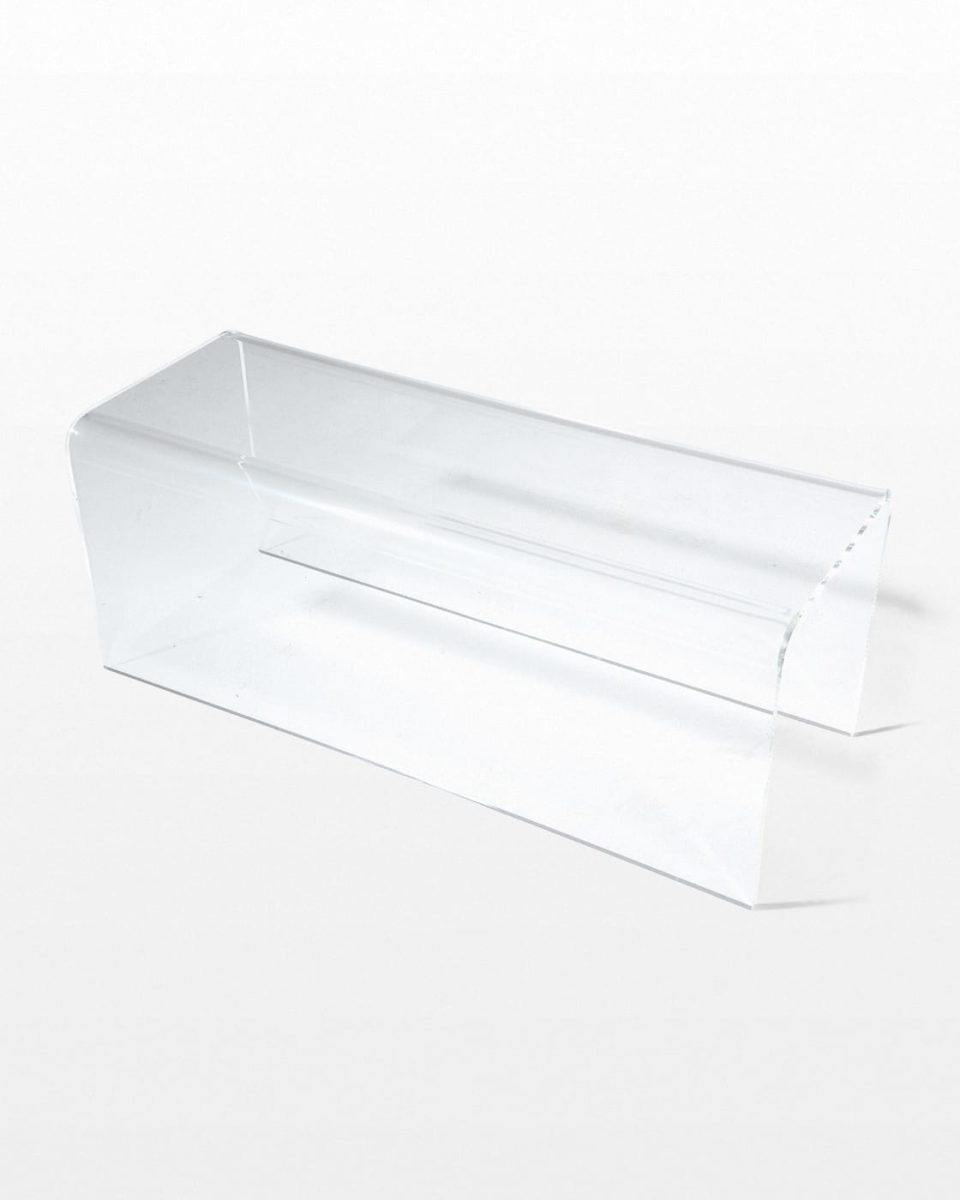 Front view of Bristol Acrylic Bench