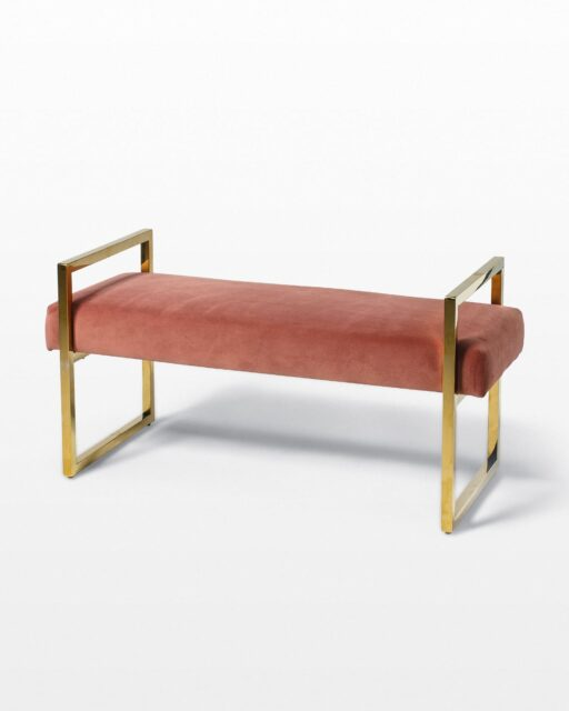 Front view of Blush Bench