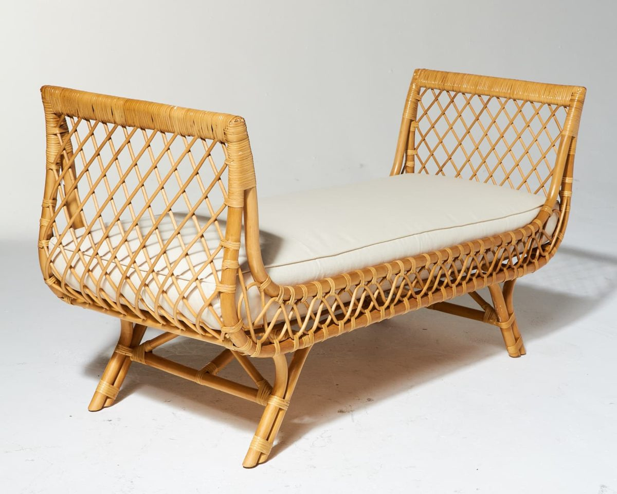 Alternate view 2 of Preston Rattan Lounge Bench