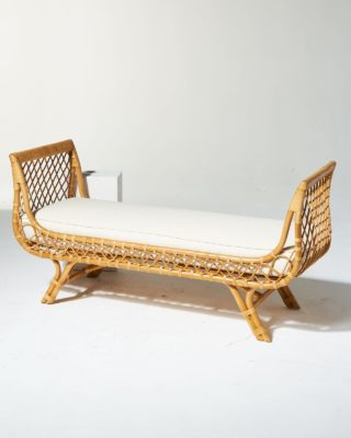 Alternate view 4 of Preston Rattan Lounge Bench