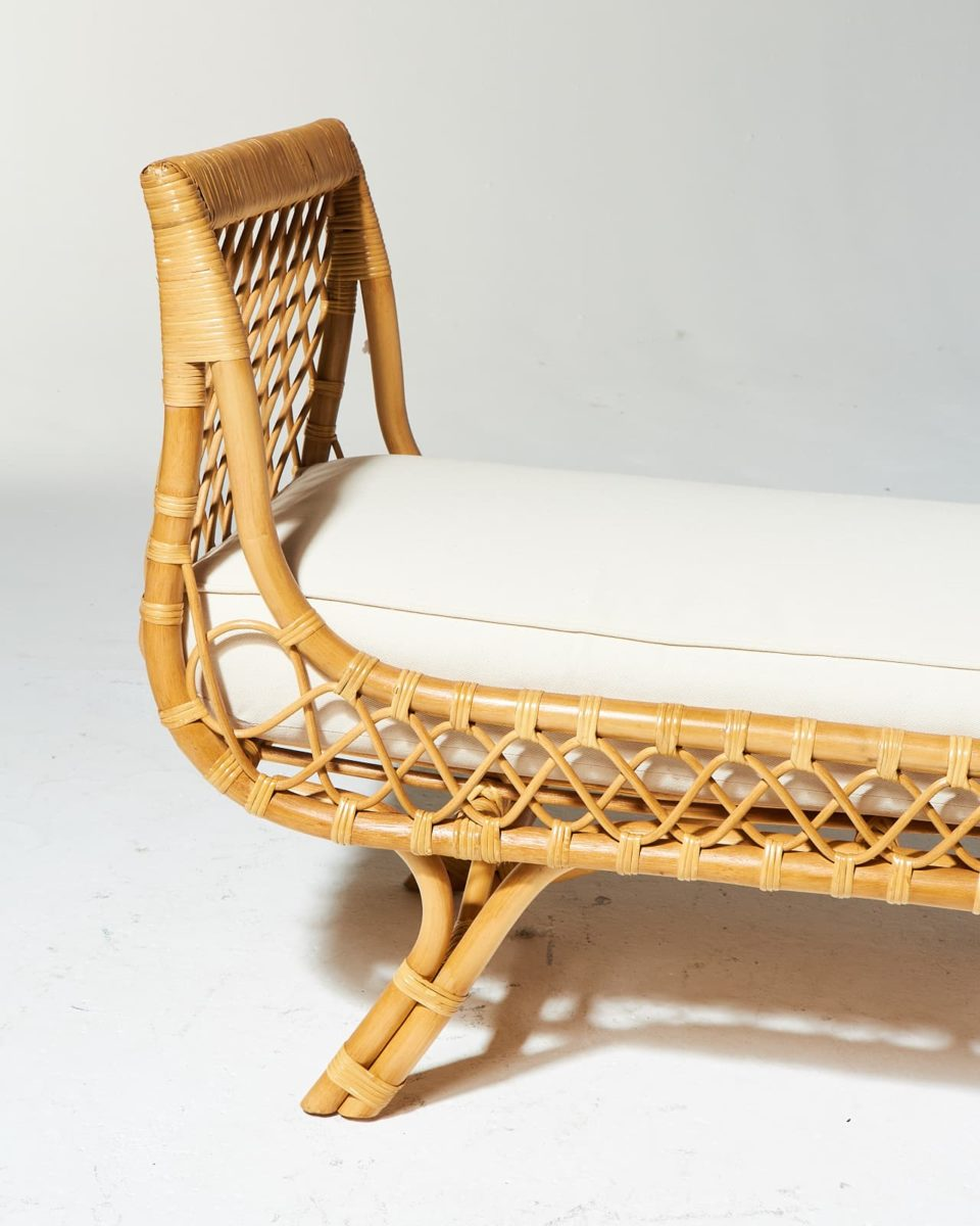 Alternate view 3 of Preston Rattan Lounge Bench