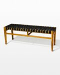 Front view thumbnail of West Rubber Strap Bench