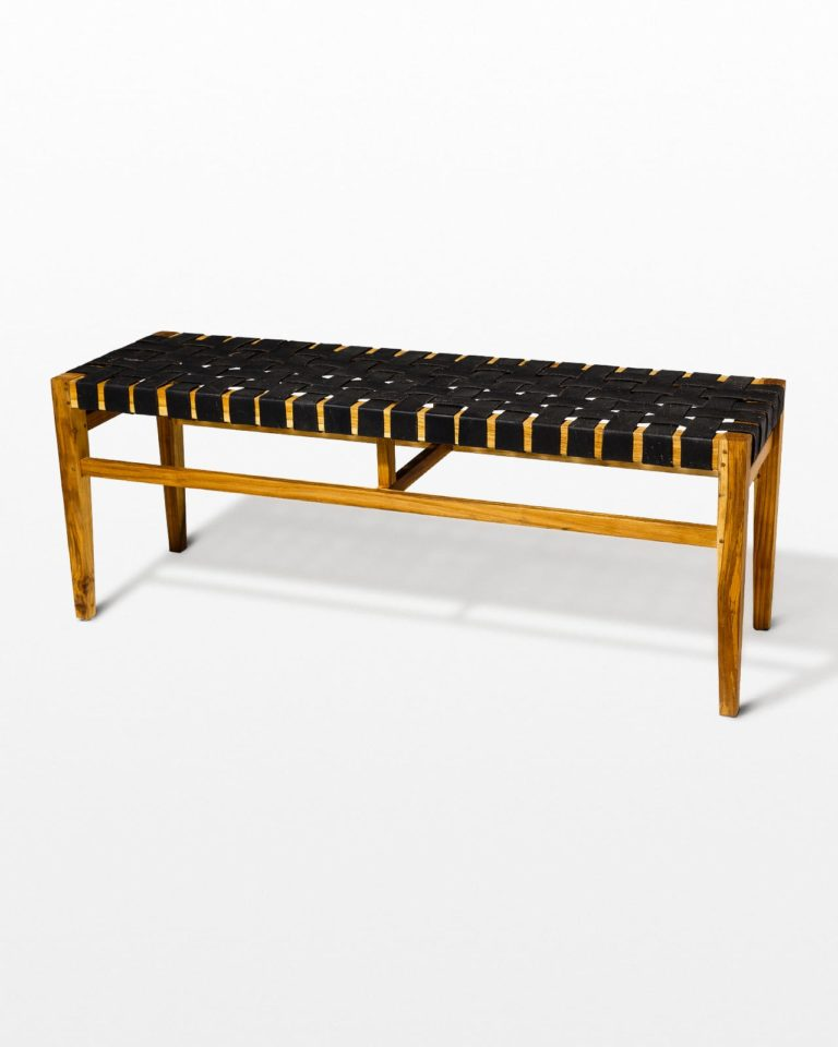 Front view of West Rubber Strap Bench
