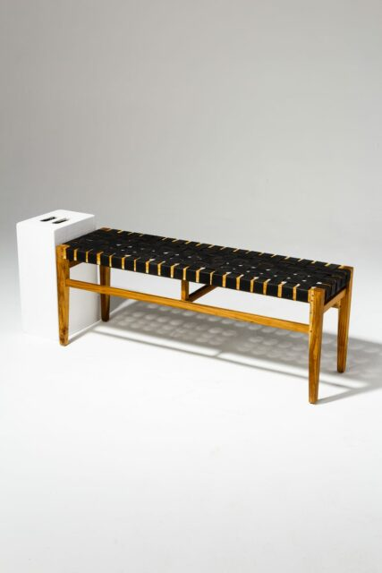 Alternate view 1 of West Rubber Strap Bench