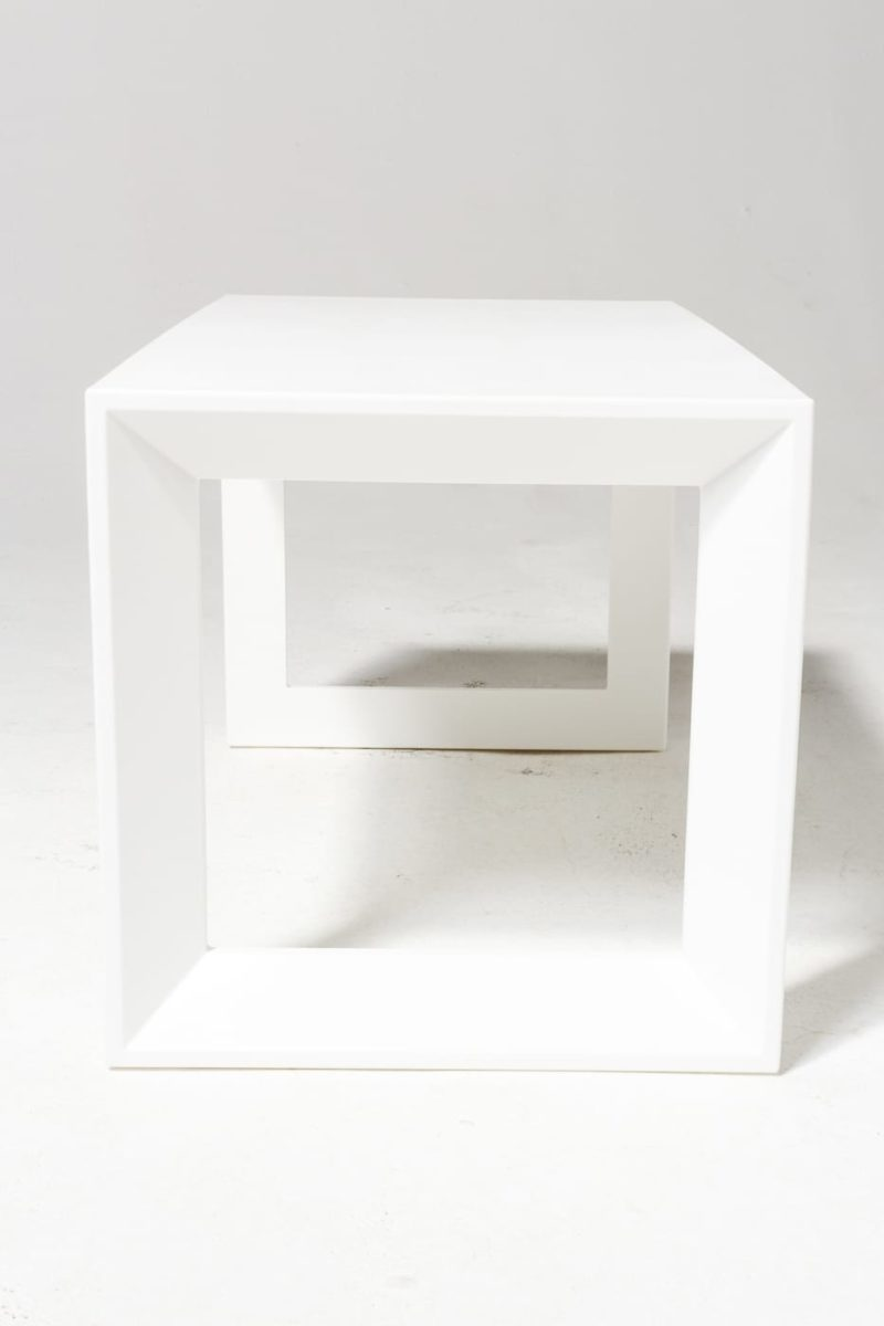 Alternate view 2 of Molded White Acrylic Frame Bench