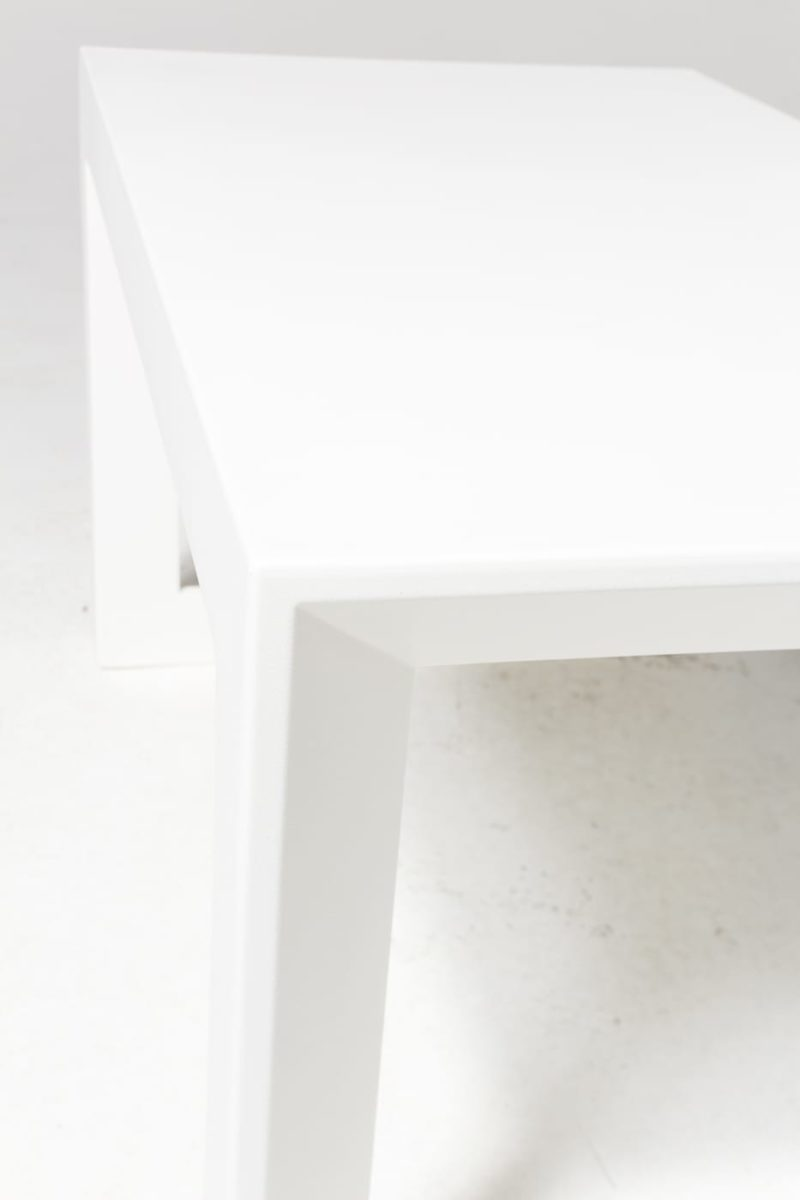 Alternate view 3 of Molded White Acrylic Frame Bench