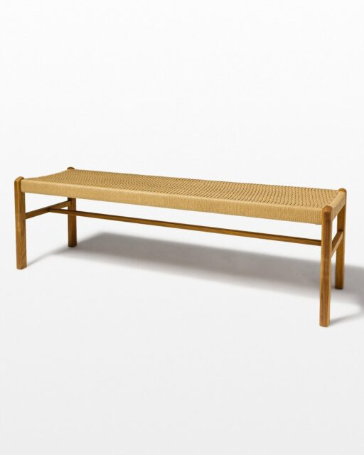 Front view of Chester Woven Rattan Bench