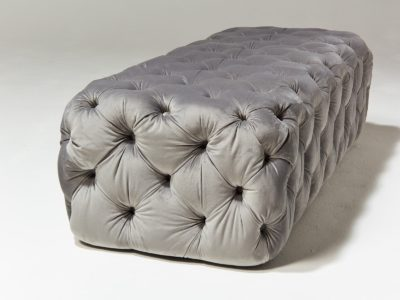 Alternate view 2 of Murphy Tufted Grey Velvet Ottoman