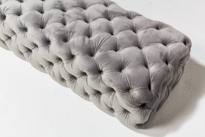 Alternate view 3 of Murphy Tufted Grey Velvet Ottoman