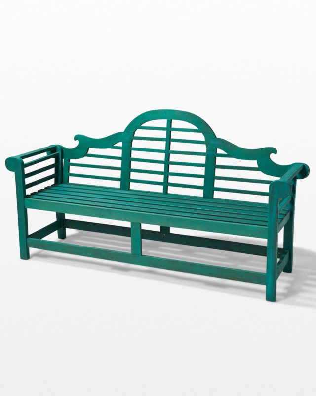 Front view of Acacia Garden Bench