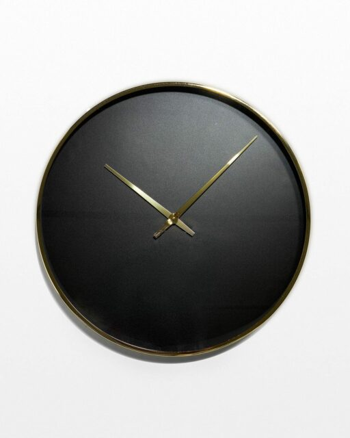Front view of Henry Black and Gold Wall Clock