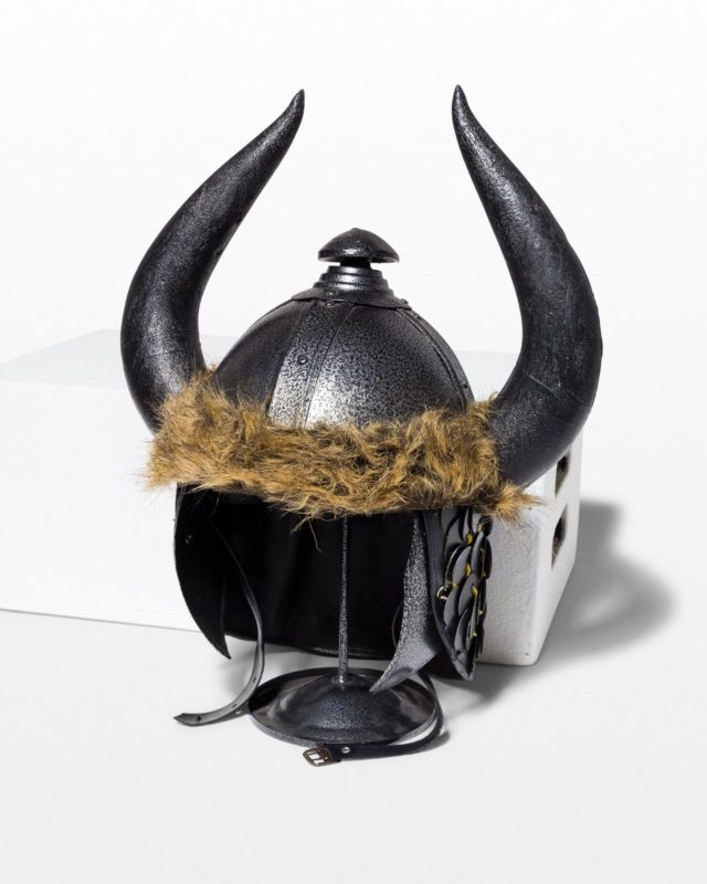 Front view of Gunnar Viking Helmet with Stand