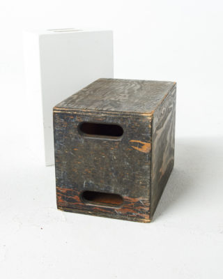 Front view of Double Distressed Apple Box