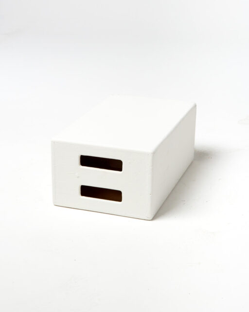 Front view of White Apple Box