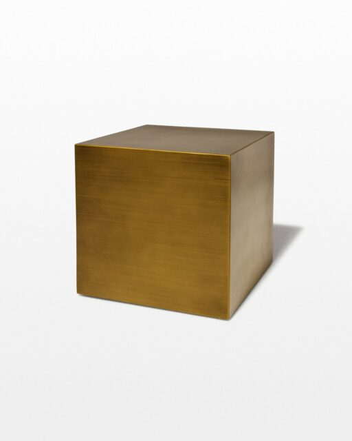 "Front view of 16"" Brushed Bronze Cube"