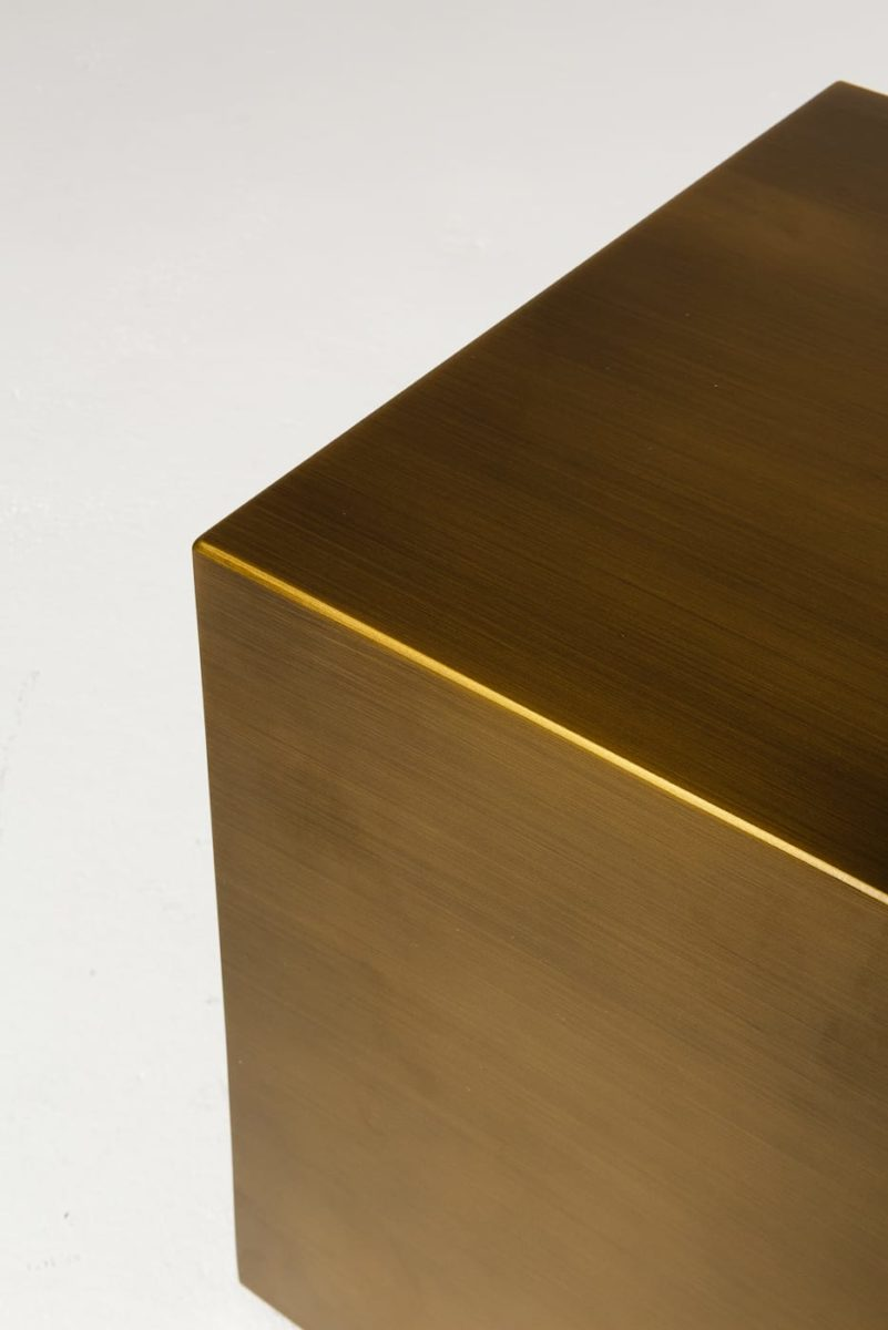 "Alternate view 3 of 16"" Brushed Bronze Cube"