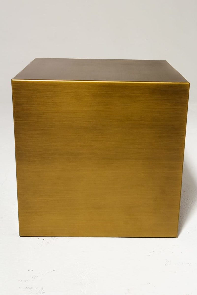 "Alternate view 2 of 16"" Brushed Bronze Cube"