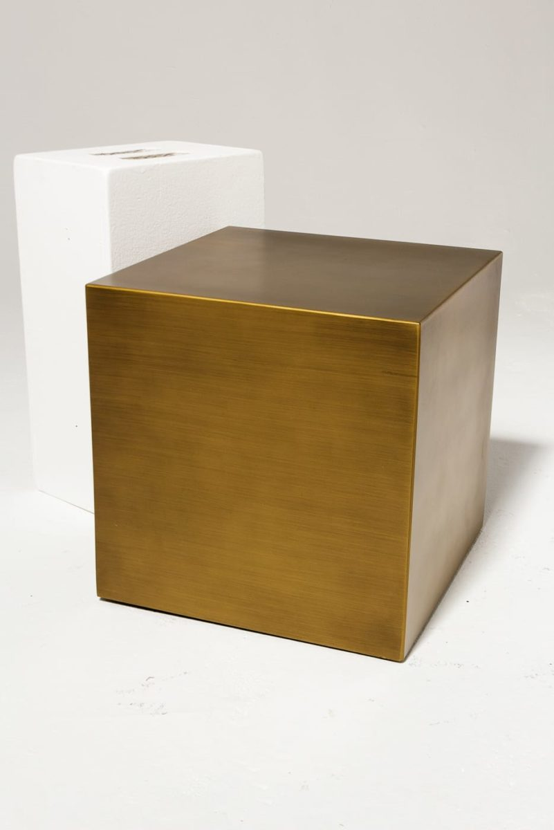 "Alternate view 1 of 16"" Brushed Bronze Cube"