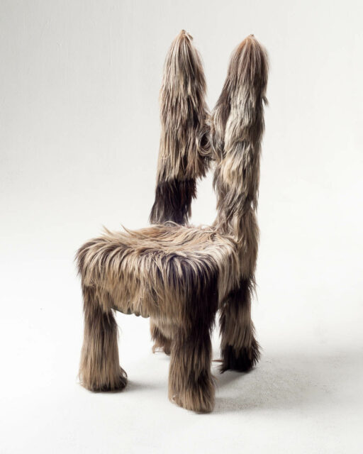 Front view of Hairy Chair