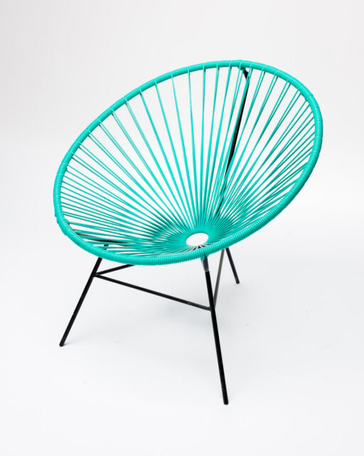Front view of Turquoise Cone Chair