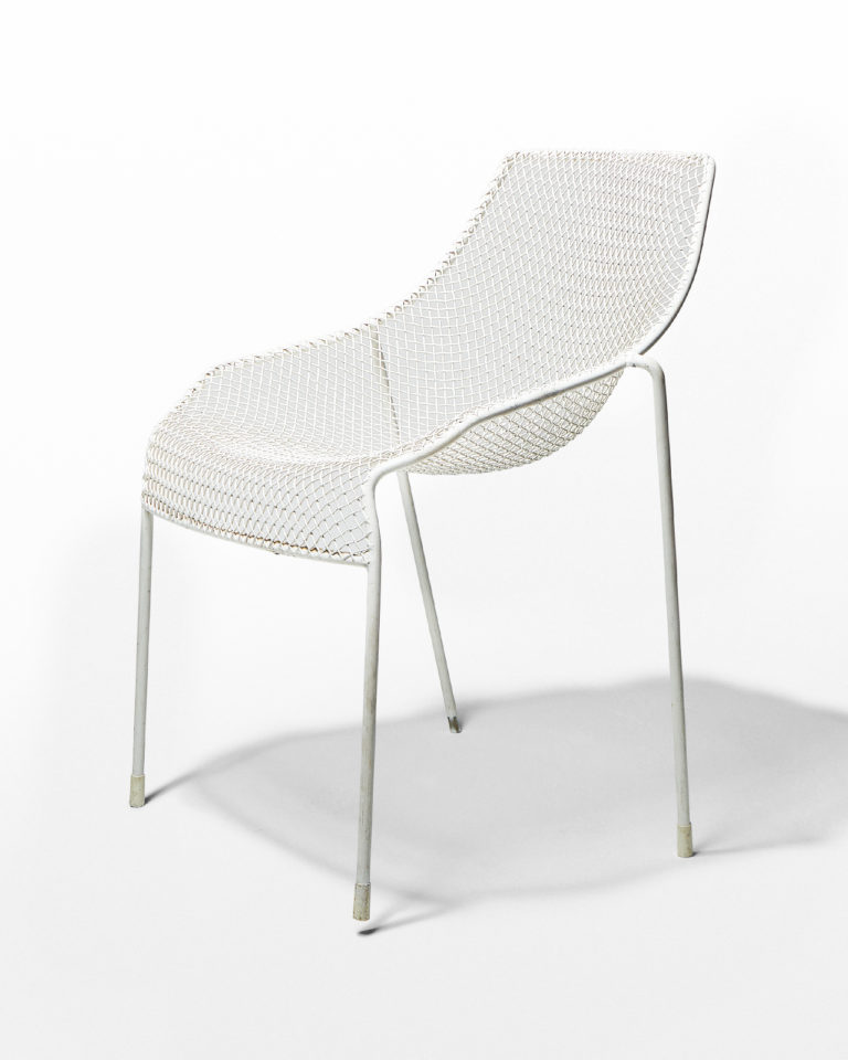 Front view of White Link Chair