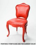 Front view thumbnail of Paintable Armless Louis XIV Chair