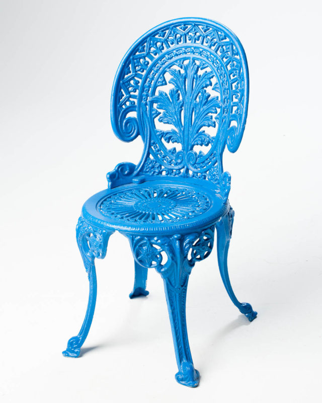 Front view of Iron Garden Chair