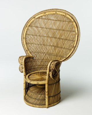 Front view of Natural Peacock Chair