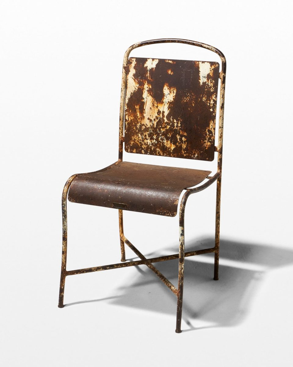 Front view of Rusted Metal Chair