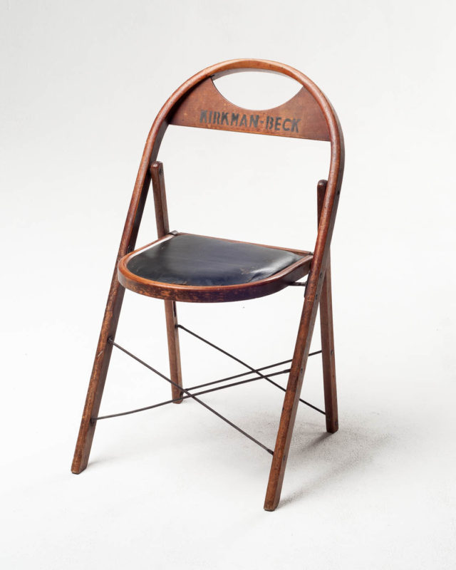 Front view of Kirkman Vintage Folding Chair