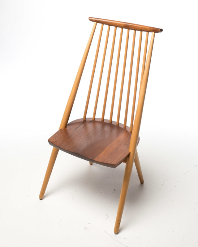 Front view of Hickory Walnut Chair