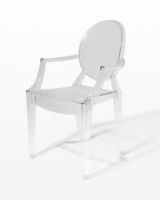 Front view of Acrylic Ghost Chair