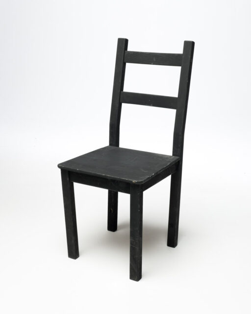 Front view of Basic Black Chair