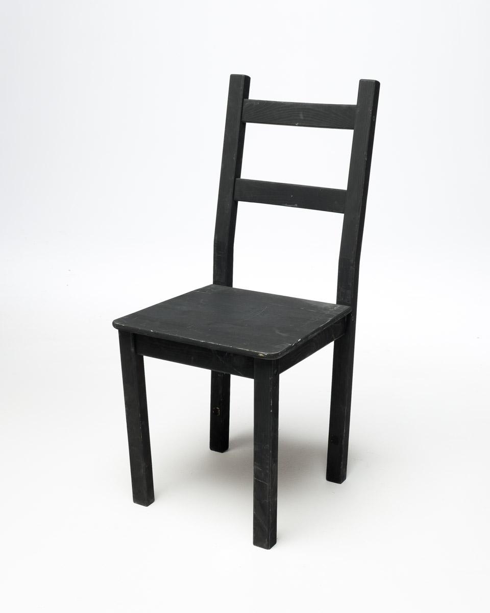 CH075 Basic Black Chair Prop Rental | ACME Brooklyn