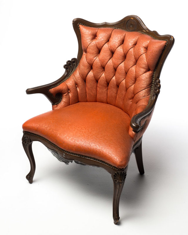 Front view of Victorian Parlor Chair