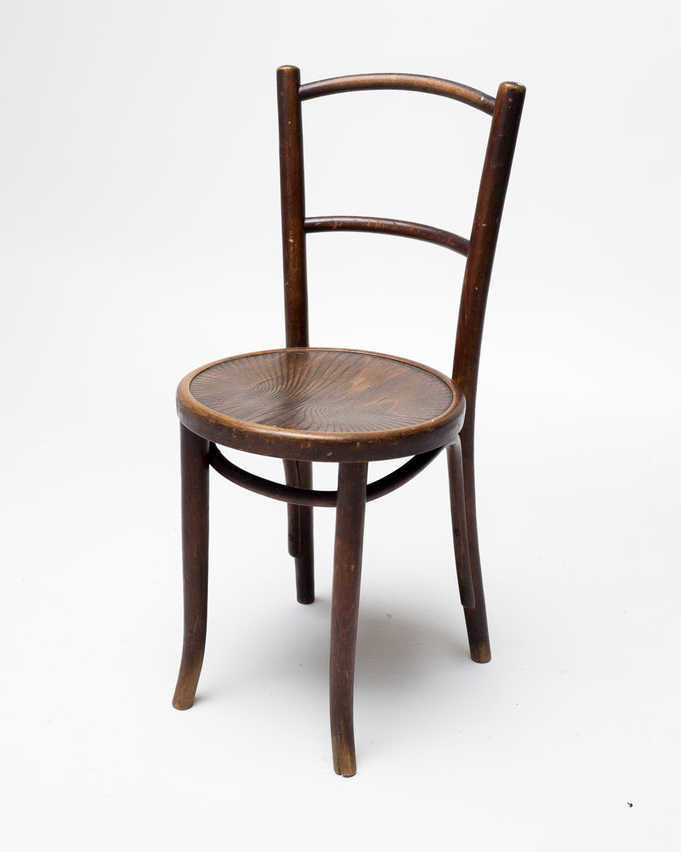 Front view of Two Pane Wood Chair