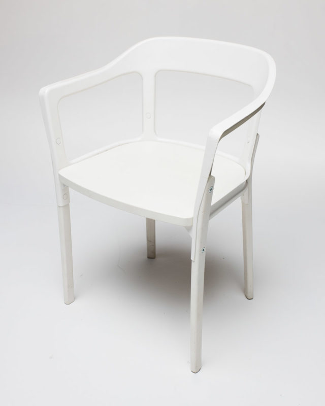 Front view of White Modern Chair