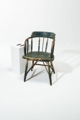 Alternate view 1 of Weathered Green Wood Chair