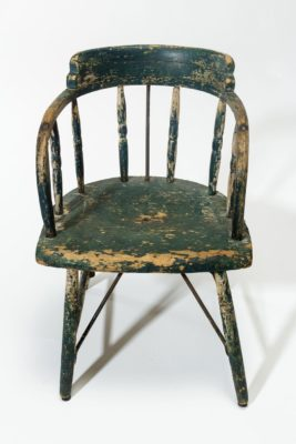Alternate view 2 of Weathered Green Wood Chair