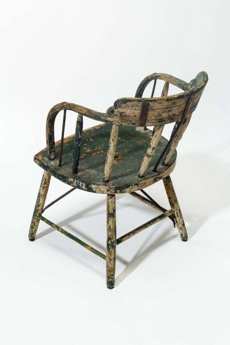 Alternate view 3 of Weathered Green Wood Chair