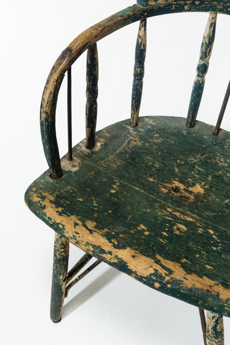 Alternate view 4 of Weathered Green Wood Chair