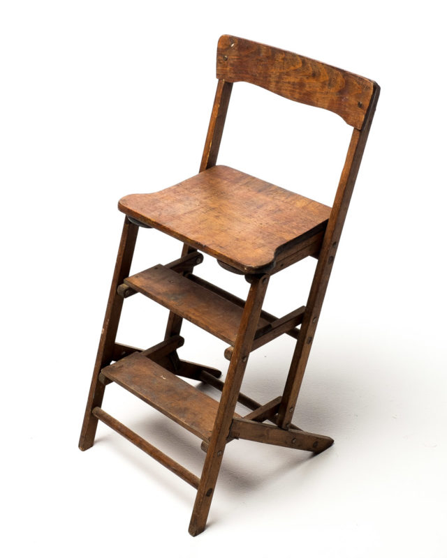 Front view of Wooden Step Ladder Chair